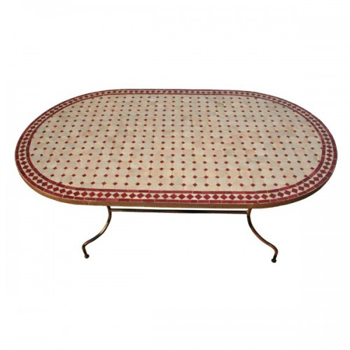 Table en zellige ovale 220/100