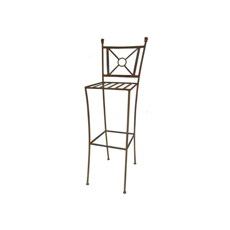 tabouret bar fer forge tina. Black Bedroom Furniture Sets. Home Design Ideas