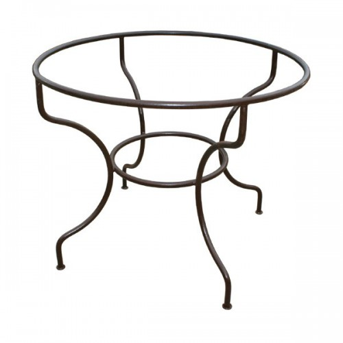 Pied table fer forgé rond simple fer plein