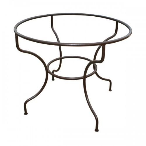 Pied table fer forgé rond simple fer plein