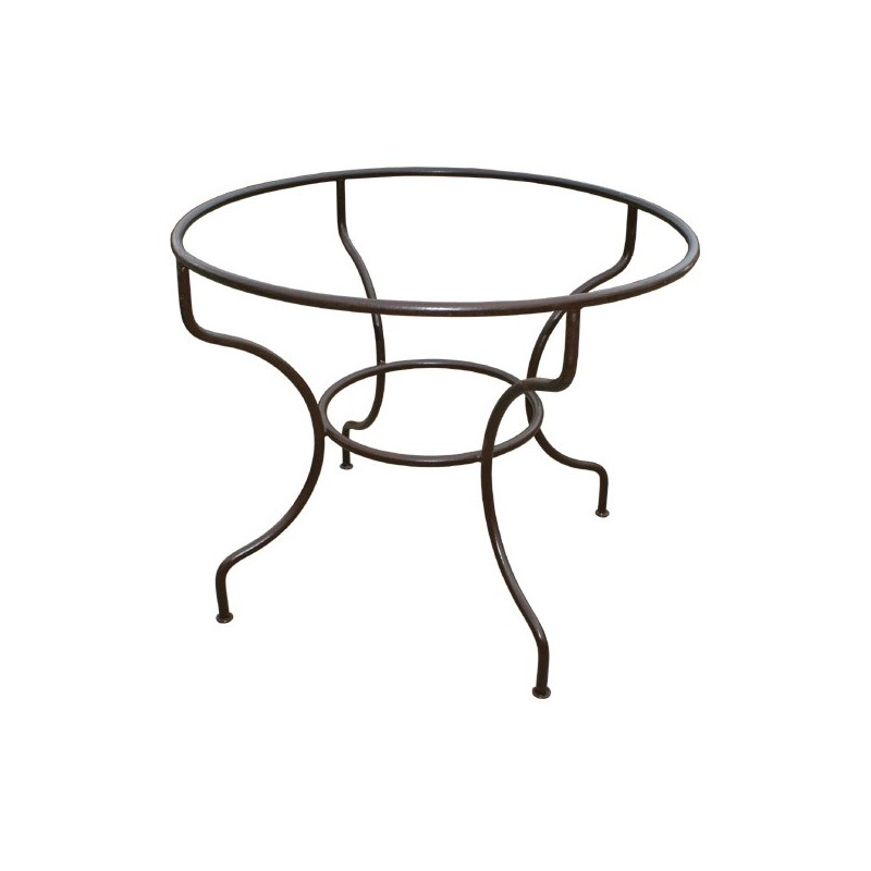 pied de table fer forge support simple rond ferronnerie art pietement. Black Bedroom Furniture Sets. Home Design Ideas