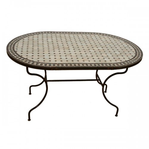 Table en zellige ovale 130/80