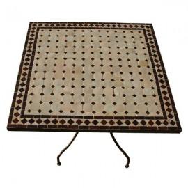 Table mosaique marbre salle a manger jardin tables exterieur terre ...