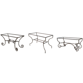 pied de table fer forge pietement ferronnerie d 39 art support table fer artisanal achat. Black Bedroom Furniture Sets. Home Design Ideas