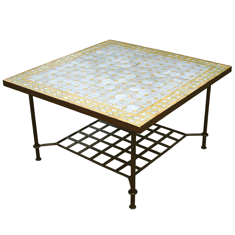 Table mosaique marocaine basse