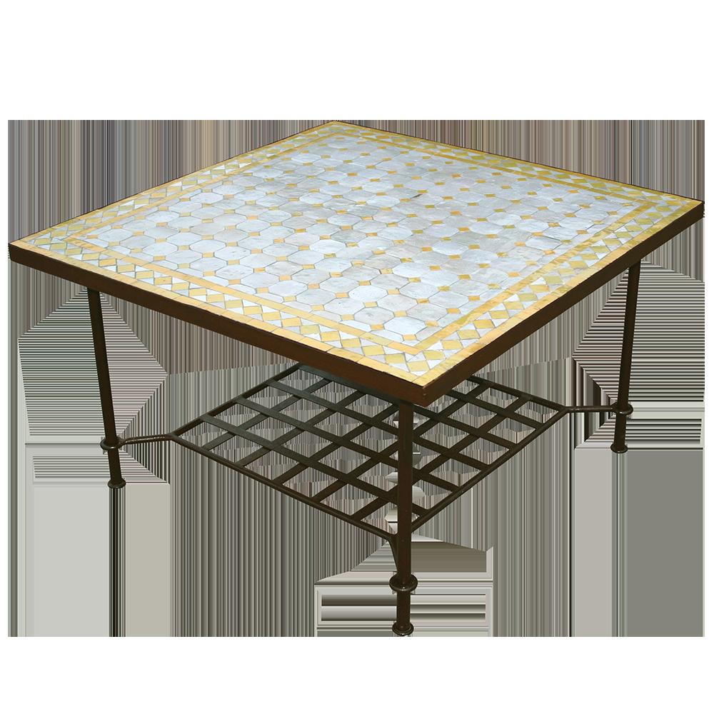 Table mosaique marocaine basse