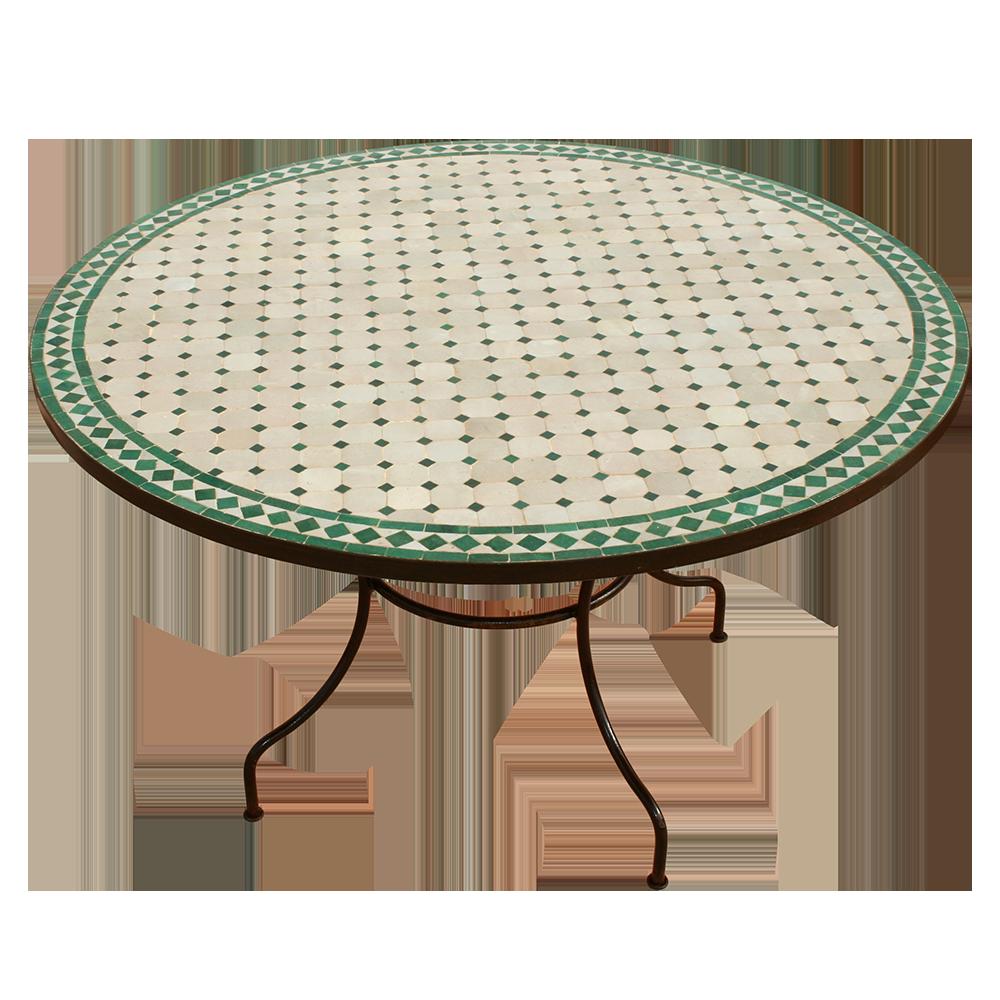 Table mosaique zellige marocaine ronde 130